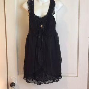 Pretty Angel Black Camisole Dress, NWT